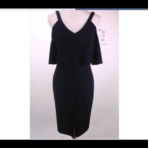 Antonio melani crepe cold shoulder dress